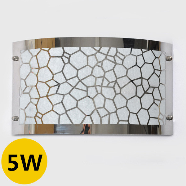 Creative 5W Led Wall Lamps Cylinder Surface Yellow/White Water Cube E27 Light Source Stainless Steel Mask For Indoor Decoration(China (Mainland))