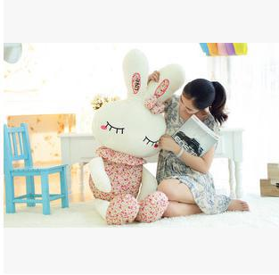 2015 Plush toys large size 120cm Rabbit Stuffed Animal Doll for Girls Couple Lover's Valentine's Day Gift Free Shipping S0102(China (Mainland))