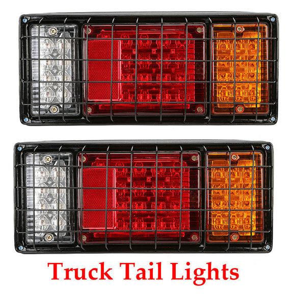 1 Pair 12V 40 Leds Rear Lights ATV Trailer Truck LED Tail Light Lamp Yacht Car-Trailer Taillight Reversing Brake Turn Lights(China (Mainland))