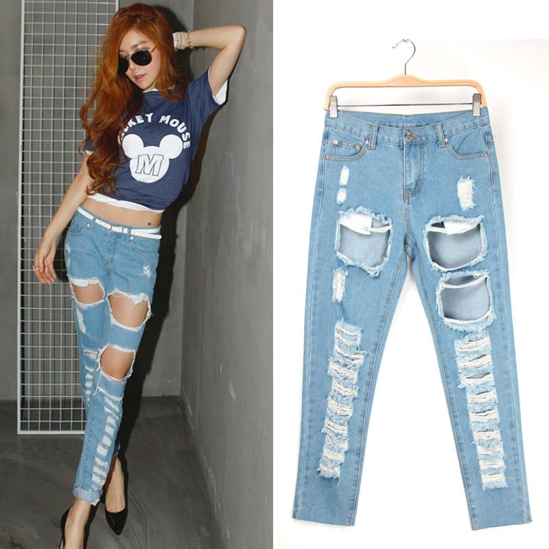 Женские джинсы Ripped jeans 9782 jeans джинсы женские mavi jeans