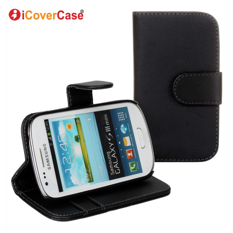 Coque for Samsung S3 Mini Case PU Wallet Leather Cover for Samsung Galaxy S3 Mini i8190 Carcasas Hoesjes Housse Capa Fundas Flip(China (Mainland))