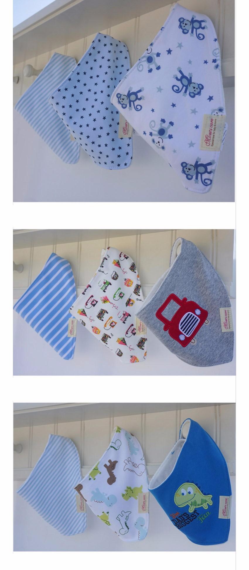 3 Pçs/lote Toalha de Algodão Bibs Do Bebê Das Meninas Dos Meninos Bibs Bandana Do Bebê Recém-nascido Do Bebê Bib Infantil Saliva Toalha Dos Desenhos Animados Da Criança Roupas