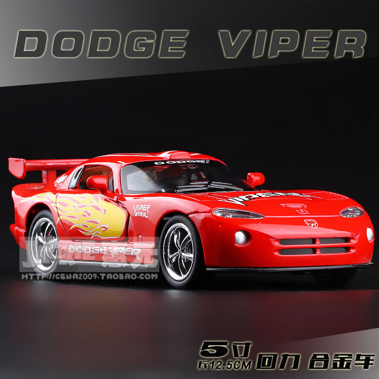 High Simulation Exquisite Baby Toys: New and Original DODGE Viper Model Decoration 1:36 Alloy Sports Car Model Excellent Gifts(China (Mainland))