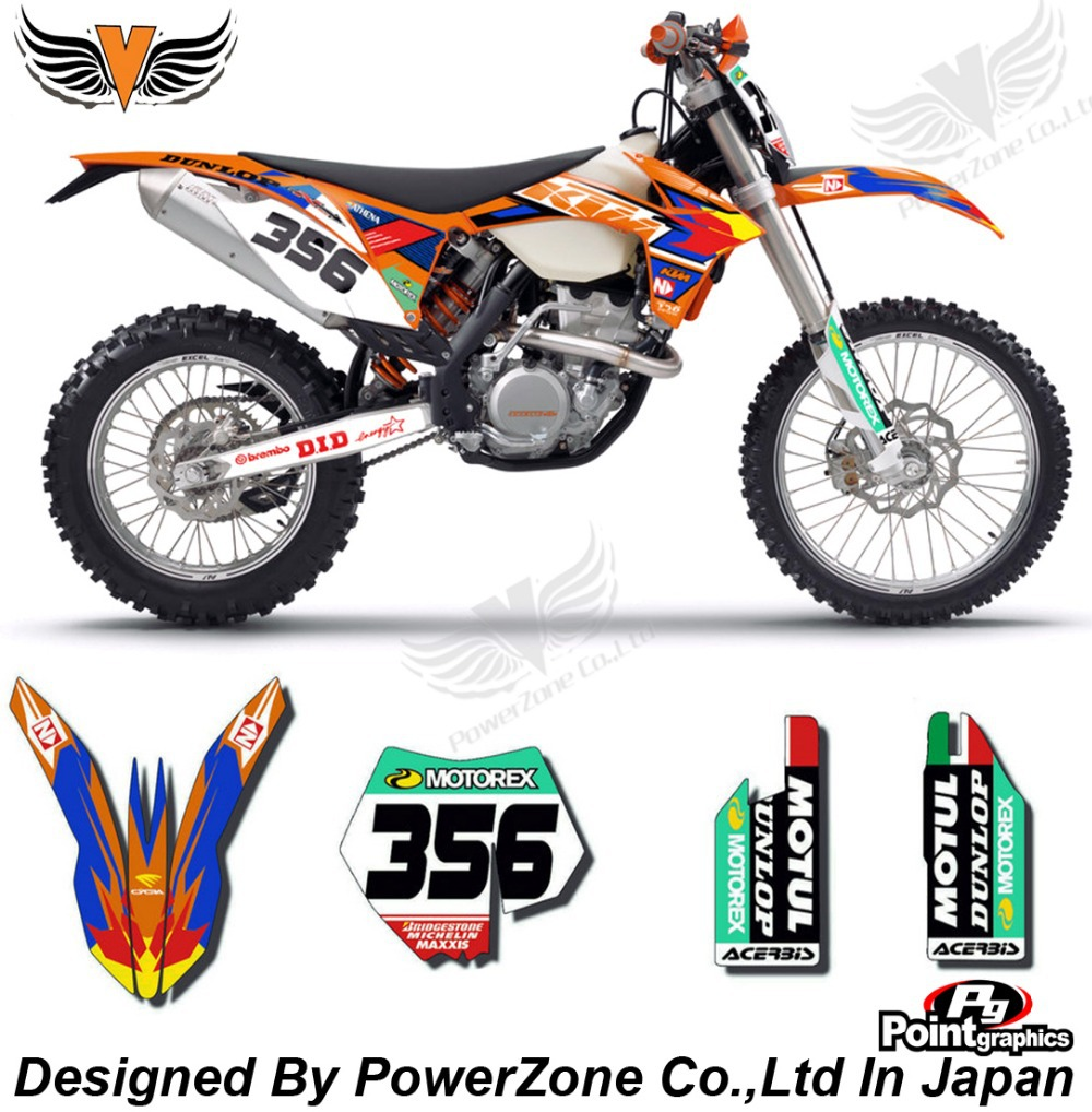 Top Quality Team Graphics & Backgrounds Decals 3M  365 Stickers Kits For KTM SX SXF EXC 125 250 450 525 1998-2014 Free Shpping