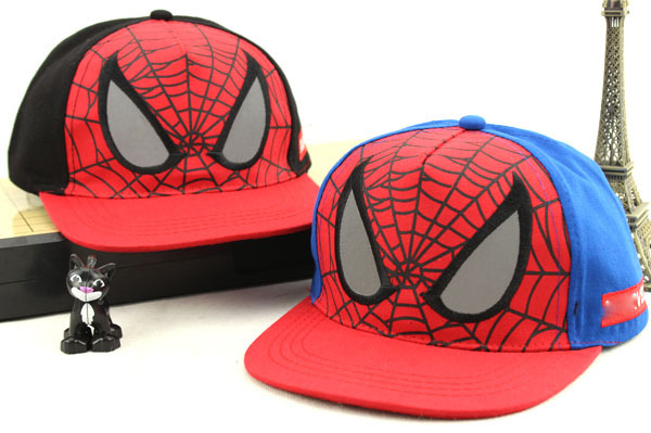 2016 New Kids Baseball Caps Snapbacks Spiderman Casquette Homme Fitted Hat Casual Outdoor Sports Snapback Hats Cap for Children(China (Mainland))