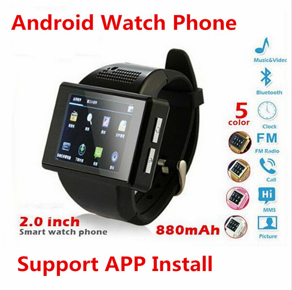 Watch phone 2015 An1 smart watch Android phone 2.0 touch screen camera bluetooth WIFI GPS watch phone AN1 watch mobile phone(China (Mainland))