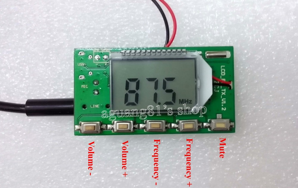 DSP & PLL Digital Wireless Microphone Stereo FM Transmitter Module 87-108MHz(China (Mainland))