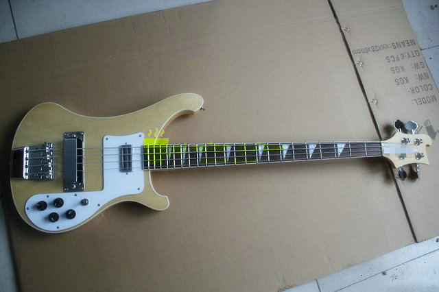 Newest 4 Strings Ricken R4003 Bass Electric Guitar Finish with original & Left Hand Bass Available two Jack Free Shipping(China (Mainland))