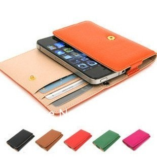 Fashion PU leather wallet case for iphone4g 4s / for nokia N9 LUMIA 800,retail and wholesale,freeshipping
