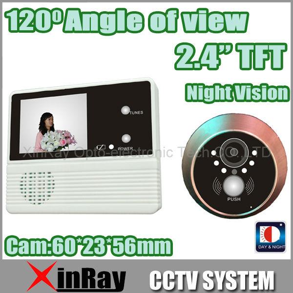 "Гаджет  Free Shipping Hot 2.4"" TFT LCD Monitor Digital Door Peephole Viewer 120 Degree Wide Viewing Angle INFRARED DoorBell 601B-2AH None Аппаратные средства"