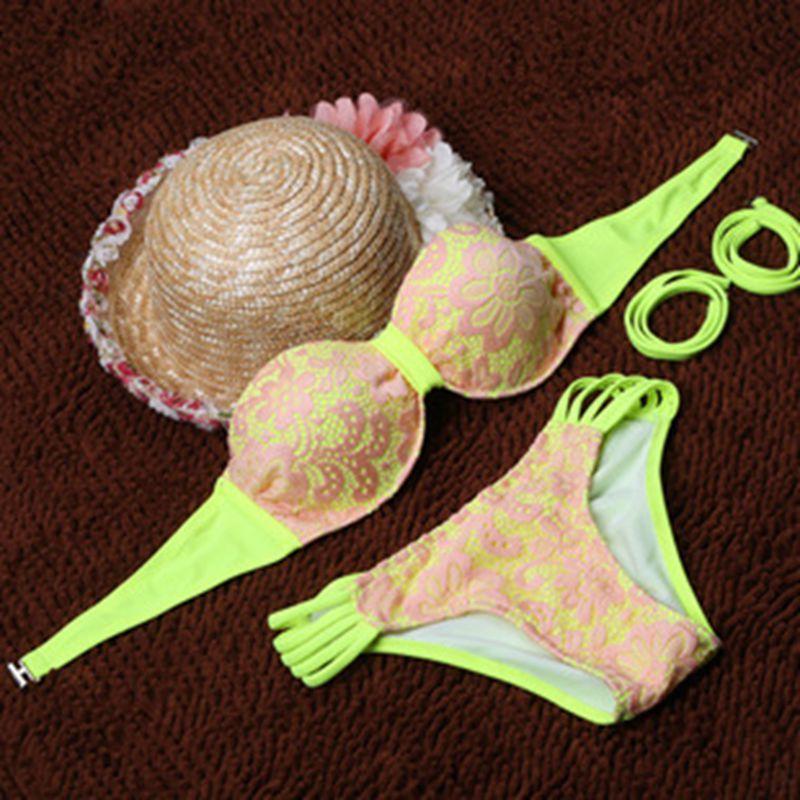 Brand swimsuit sexy female models lace bikini swimsuit wholesale factory direct free shipping DST-804(China (Mainland))