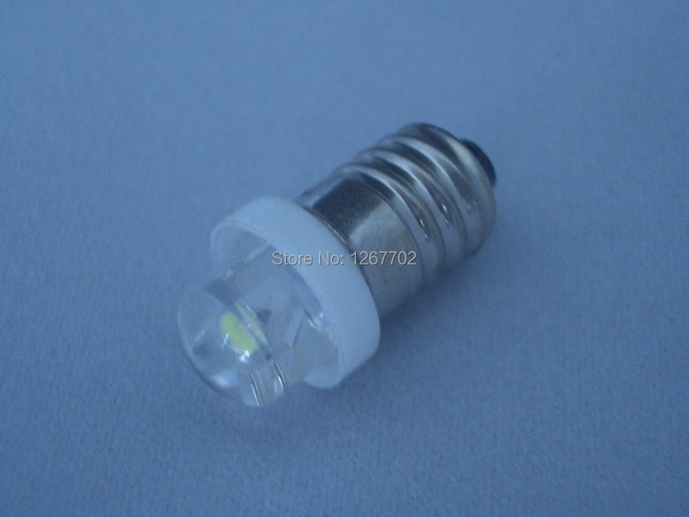 E10 Screw-In 0.5w High Intensity LED Flashlight Bulb 6Volt(China (Mainland))