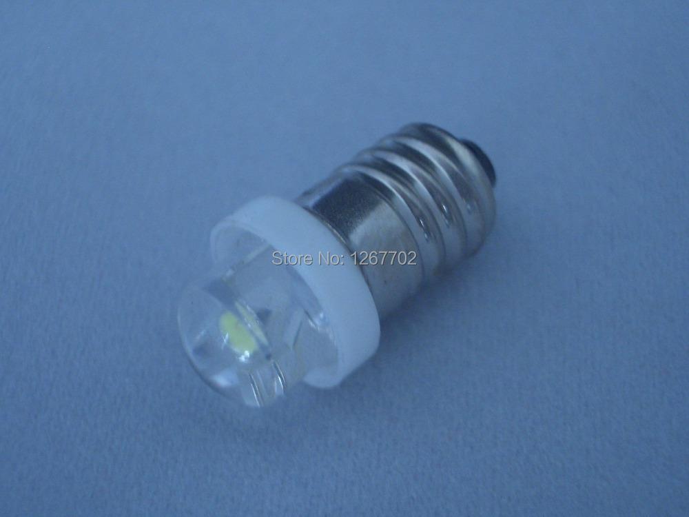 E10 Screw-In 0.5w High Intensity LED Flashlight Bulb 6Volt(China (Mainland))