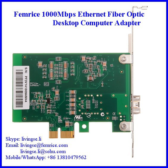 PC Network Adapter LC Fiber Card Single Port PCI Express x1 Gigabit Ethernet 1000Mbps - Femrice (China store Technology Co., Ltd)