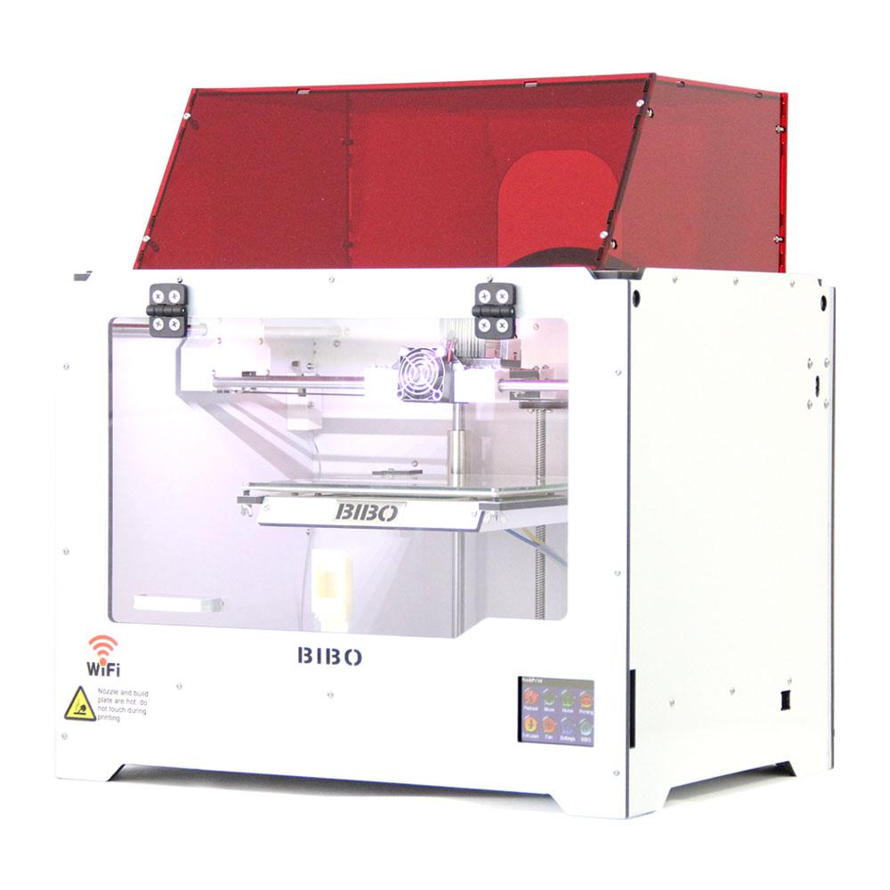 BIBO 3D Printer Cut Printing Time In Half Metal Frame Dual Extruder Laser Engraver Touch Screen Wifi Filament Detect Not DIY Kit(China (Mainland))