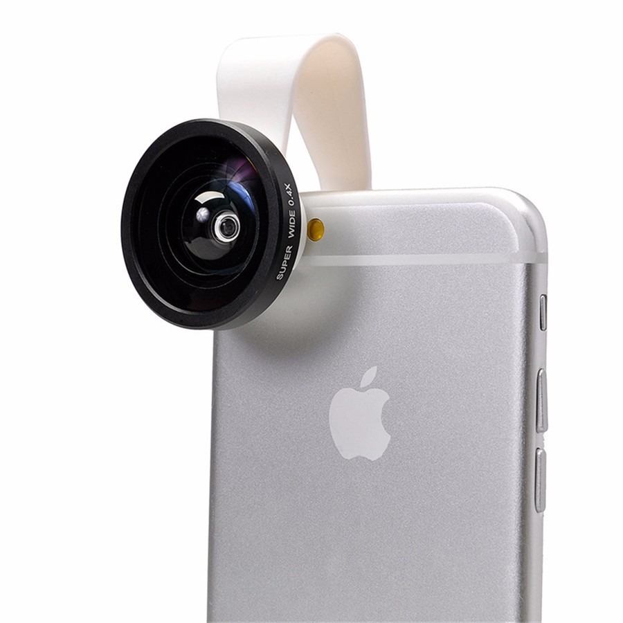 0.4X Wide Angle Lens Universal Mini Clip Clamp Wide Angle Lens Mobile Phone Optical Lenses For iPhone 5s 6 Samsung Xiaomi LG HTC