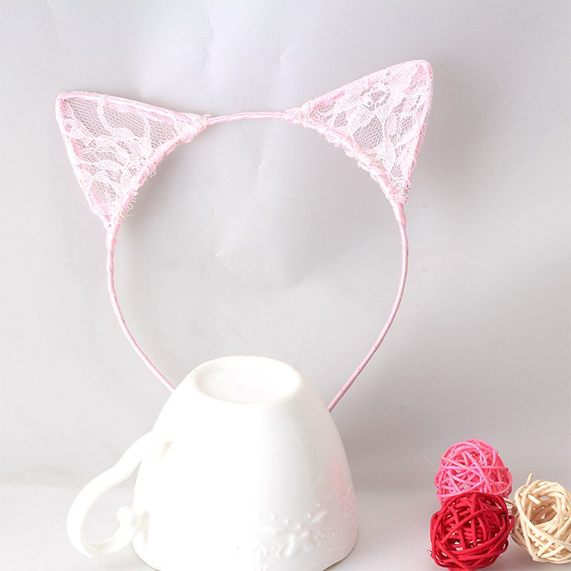 1PC New Summer Style Girls Lace Cat Ear Headband Hairband Princess Hair Accessories Headwear Sexy Cute Hair Band(China (Mainland))
