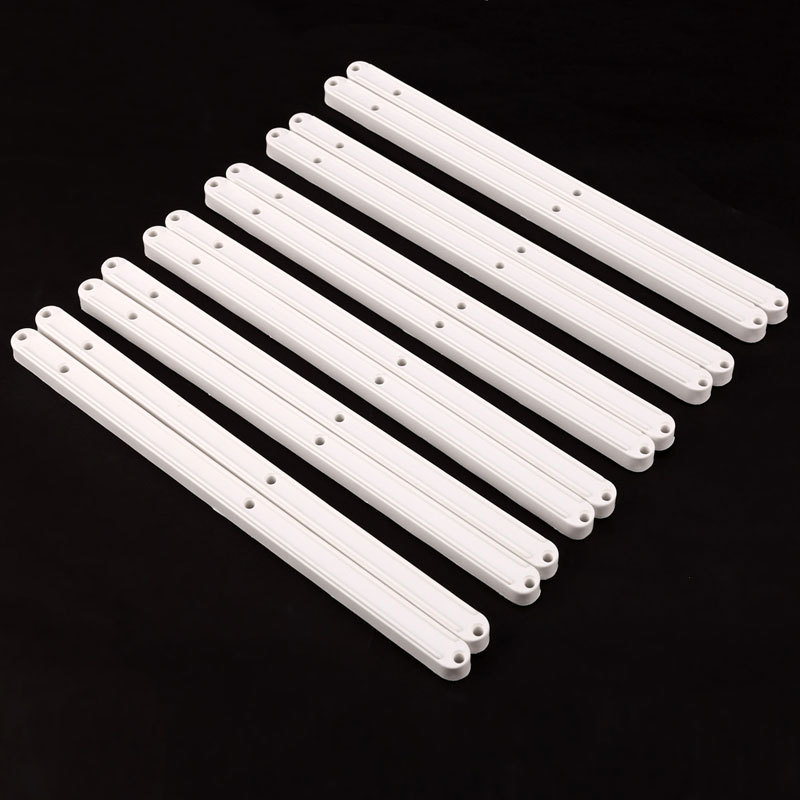 6 Pcs 30cm White Durable Drawer Runner Slides Rail Plastic 300 x16 x 13mm<br><br>Aliexpress