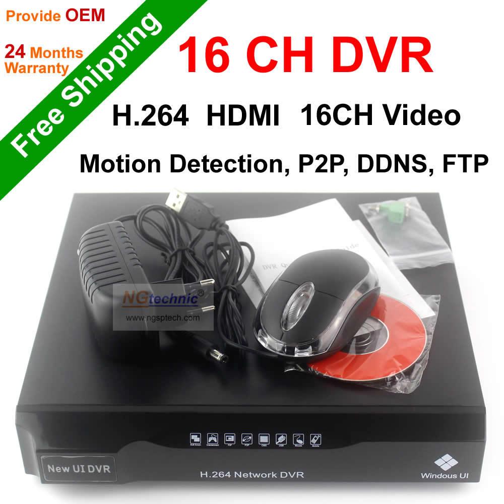 Free Shipping NGtechnic 16CH CIF CCTV DVR HDMI 16 channels DVR P2P Cloud CCTV digital video recorder H.264 DVR(China (Mainland))