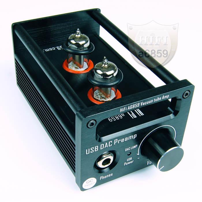 HIFI Vacuum Tube Amplifier USB DAC Decoder tubes Preamp Boldly tube Headphone DC Power Supply CM108 UAB2.0 Chip(China (Mainland))