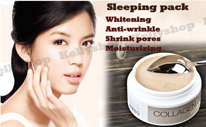 2pcs/lot  Authenticity Korea COLLAGEN JELLY PACK facial sleeping mask 100g anti-wrinkle firming skin Whitening moisturizing<br><br>Aliexpress