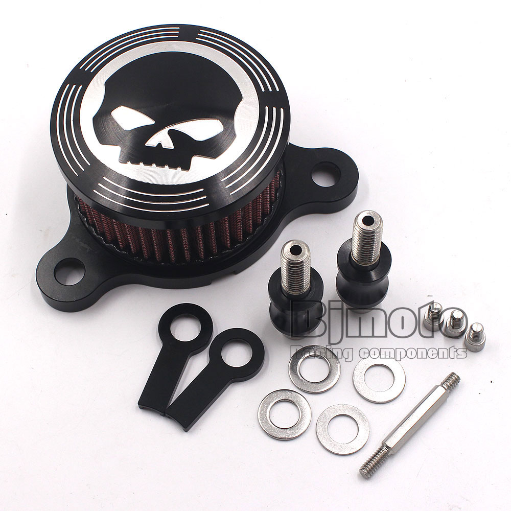 AC-004-BK Motorcycle Air Cleaner Intake Filter fit for Harley Davidson Sportster XL883 1200 Year 2004-2012(China (Mainland))