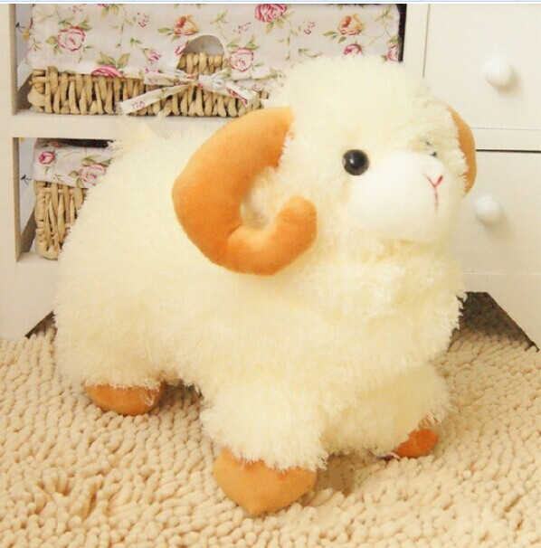big lovely plush sheep toy the Simulation dolly sheep doll beige sheep doll with yellow claws gift about 45cm<br><br>Aliexpress