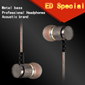 KZ ED2 Stereo XBS BASS Metal Headphones Earphone Noise Cancelling Headsets DJ In Ear Earphones HiFi