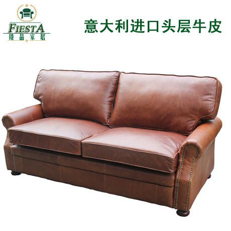 Italy imported leather sofa leather wax leather retro sofa true Italian leather sofas(China (Mainland))