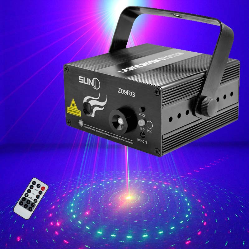 Suny Mini Led RG Laser Stage Dj Lighting Party Lights Professional Luces Discoteca Laser Projector Disco Light Blue Sound Active<br><br>Aliexpress