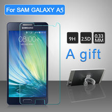 Screen Protector Tempered Glass Cover For Samsung Galaxy A5 9H Anti Broken Original Protective Film for Galaxy A5 2pcs A Gift