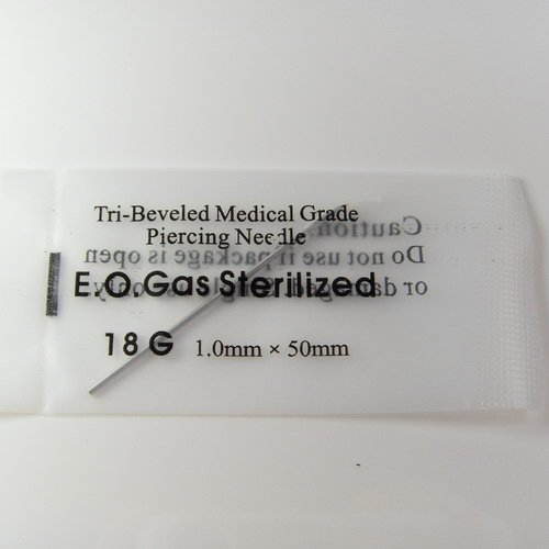 Body Piercing Sterilized Needles Different Sizes 18G 16G 14G 50 Tatoo Tools Mixed - Dream High Jewelry store