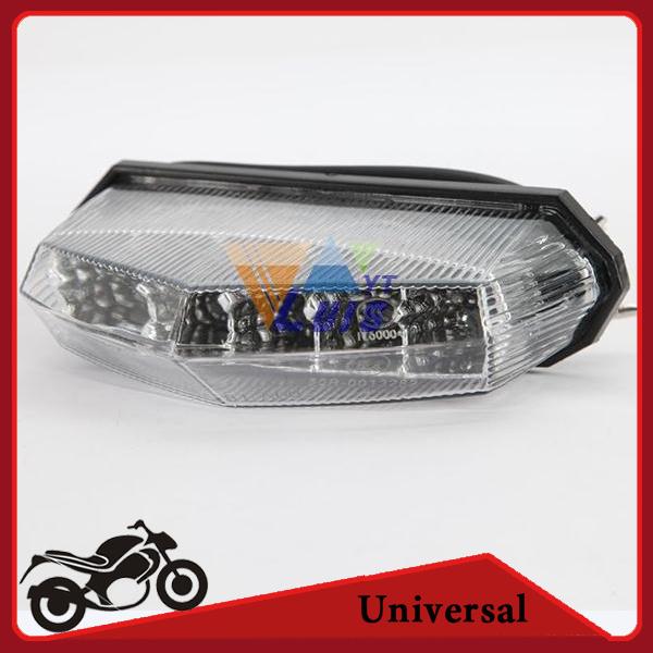 universal motorcycle 10LED tail light 12v abs ATV dirt bike Brake Running Tail Light license plate light clear wholesale
