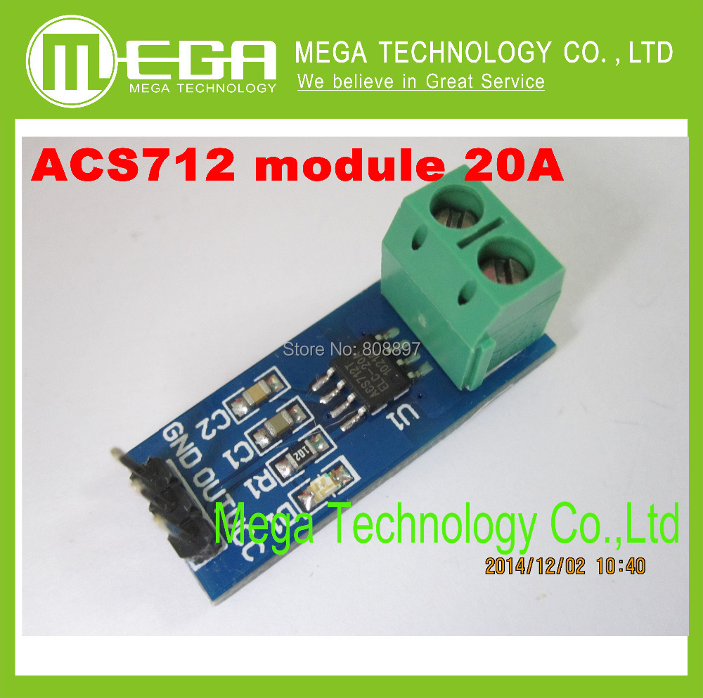 NEW 20A Hall Current Sensor Module ACS712 model 20A In stock high quality(China (Mainland))