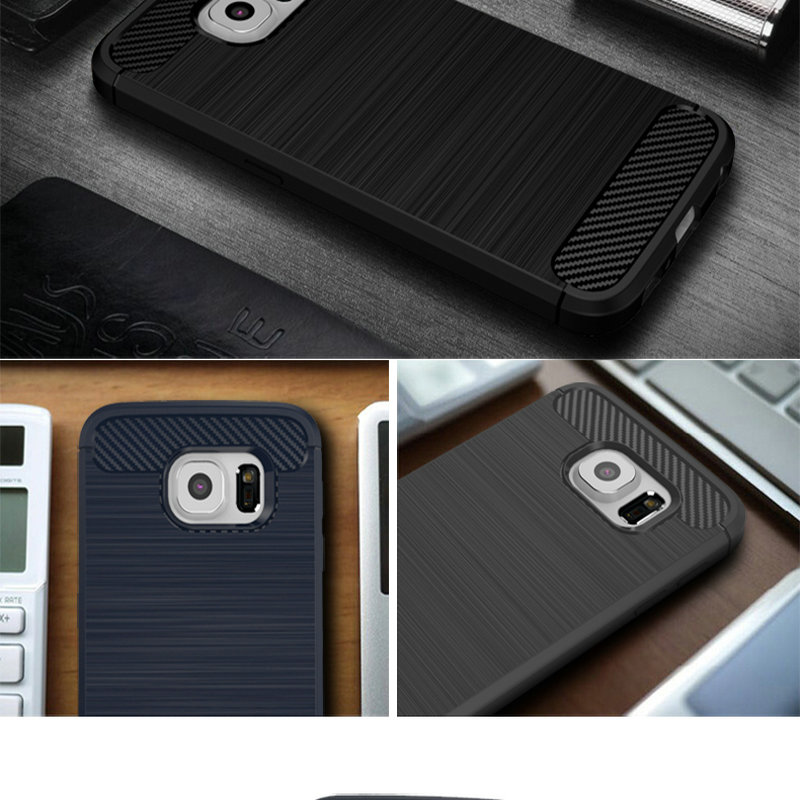 Case For Samsung Galaxy J5 (2015 ) J5008 / S6 Luxury Soft Carbon Fiber Texture Coque Cover For Samsung J5 S6 Edge Case Silicone