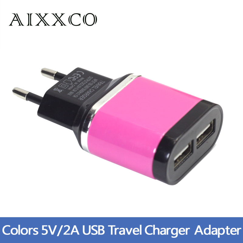 Multicolor 5V 2A USB Port Wall Home Travel AC Charger Adapter For Phone EU Plug High Quality(China (Mainland))
