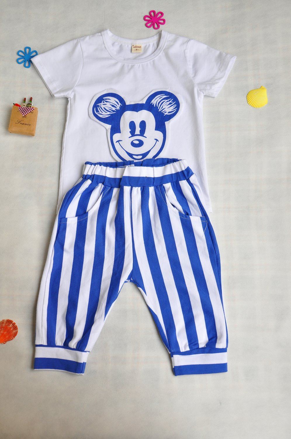 2-3-4-5-6-7Ybaby girls or boys knitted short brand 2 Pieces sets(China (Mainland))