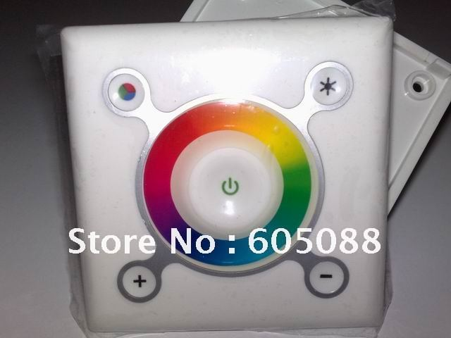 Christmas Promotion! DC12-24V wall mounted rgb touch dimming led controller for kinds of rgb led luminaires DHL free shipping
