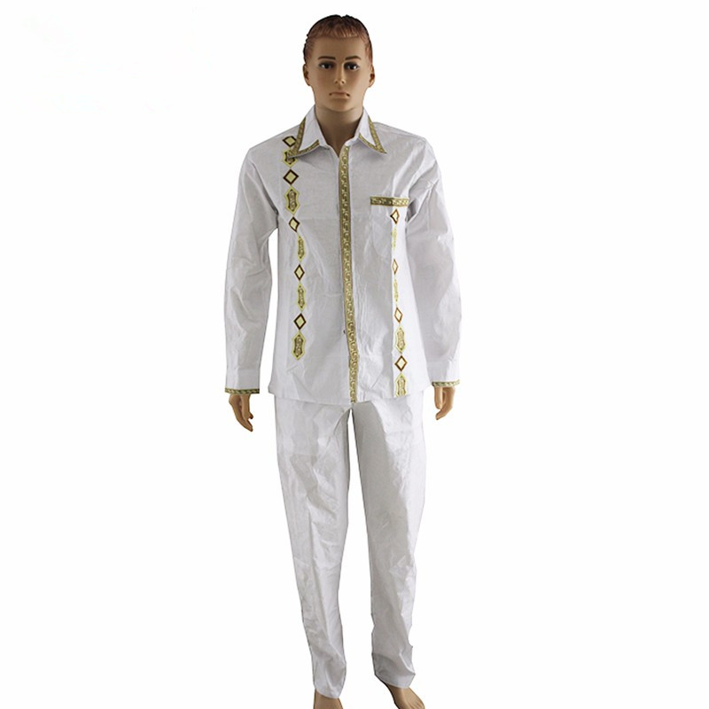 Shipping african dashiki man shirt with trouser new african fashion