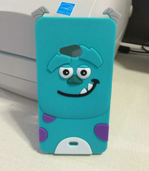 New Fashion 3D Sky Blue Naughty Sulley Soft Silicone Back Cover Case For Microsoft Nokia Lumia 535 Free Shipping(China (Mainland))