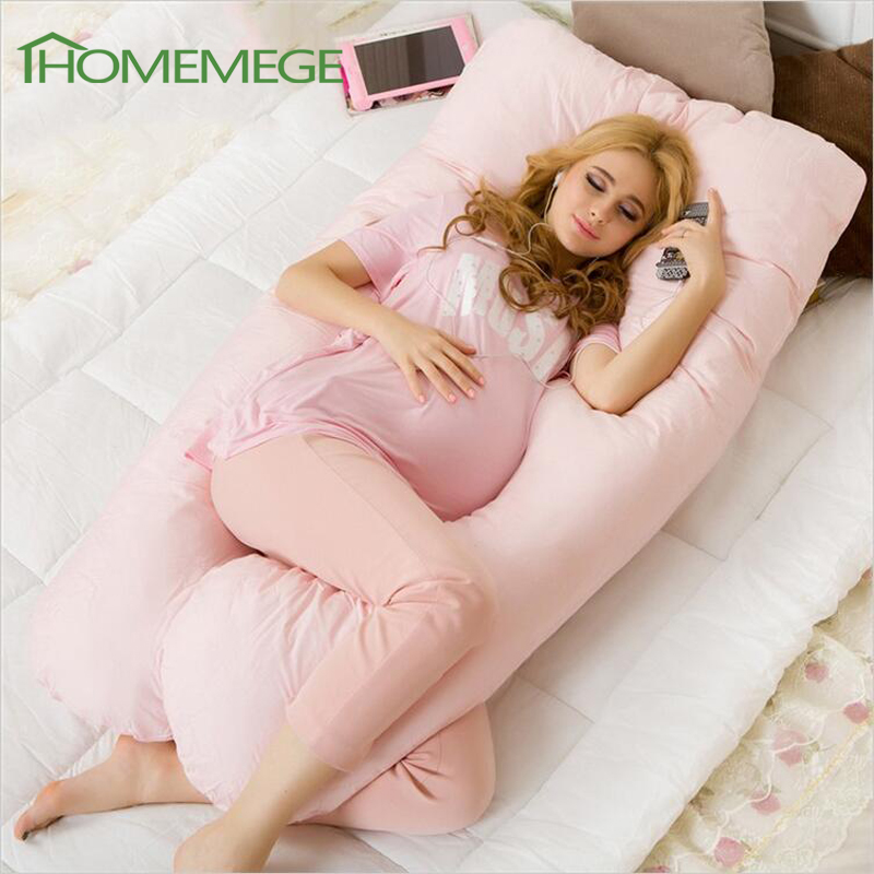 Body Pregnancy Pillow Belly Contoured Maternity U Shaped Body Pillows For Side Sleeper Removable Cover(China (Mainland))