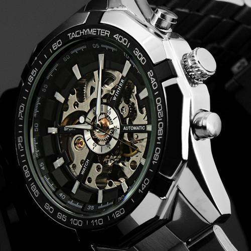 2015 NEW Steampunk Clock Mens Automatic Mechanical Men Wrist Watch for 2015(China (Mainland))