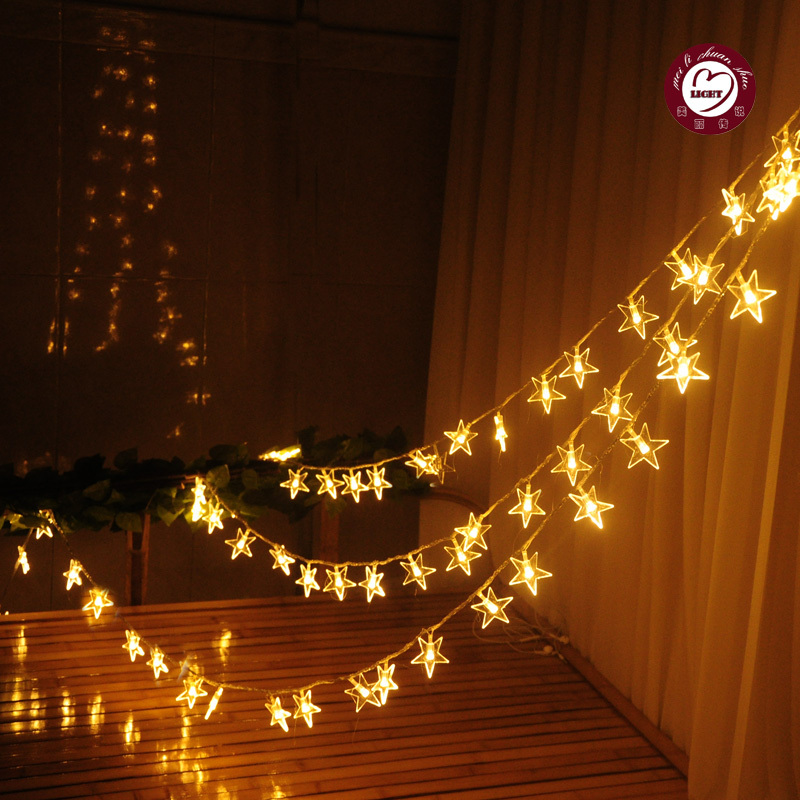New 2015 2m 3m 4m 5m 10m Battery Operated LED Festival String Fairy Christmas Lights Luminaria Xmas Party Wedding Decoration(China (Mainland))
