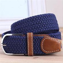 New Brand Striped Men Belts/Fashion Fabric Woven Belts For Men/Casual Elastic Belts For Men(China (Mainland))
