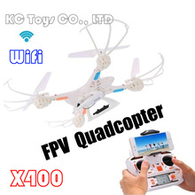 2016 MJX X400 2.4G 4CH 6-Axis FPV RC Quadcopter RC Drone With/without C4005 FPV HD camera free shipping (White)