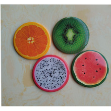 DIY Cute little cartoon fruit portable Cosmetic circular hand mirror make up Pocket mirror compact mirror(China (Mainland))