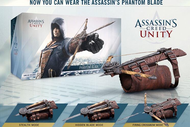 Animation assassins creed unity phantom blade Cosplay Weapon 1:1 Pirate Hidden Arrow sleeve kid toy<br><br>Aliexpress