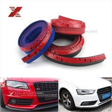 2.5M/ Roll New 2015 5CM Width TPVC Lip Skirt Protector Car Scratch Resistant Rubber Bumpers Car Front Lip Bumpers Decorate(China (Mainland))