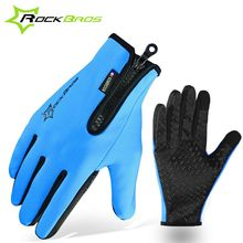 ROCKBROS Winter Gloves Fleece Thermal Warm Bike Sport Gloves Motorcycle Cycling Bicycle Equipment Gloves Full Finger Phone Glove(China (Mainland))