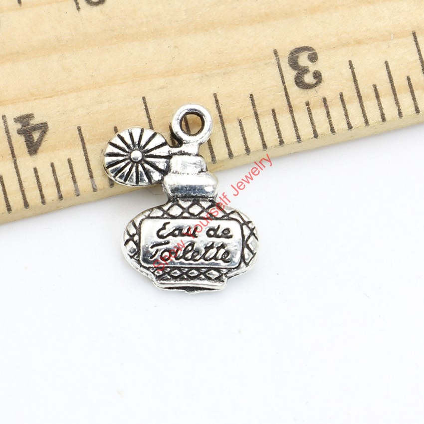 Tibetan Silver Plated Wine Bottle Charms Pendants for Bracelets Necklace Jewelry Making DIY Handmade Craft 17x13mm(China (Mainland))